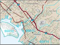 Topographic Map Oahu.Hawaii Maps From Omnimap The Leading International Map Store With