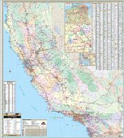 California maps from Omnimap the leading international map store