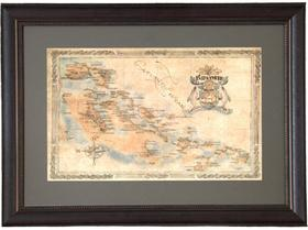 Antique maps from omnimap international map store 275000 wall deluxe framing sciox Gallery