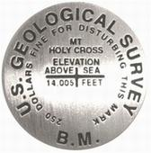 Mount of the Holy Corss lapel pin