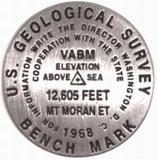 Mt. Moran benchmark lapel pin