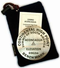 Cerro Aconcagua paperweight