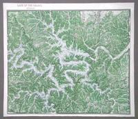 Lake of the Ozarks raised relief map