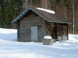 Finnish smokeless sauna building.