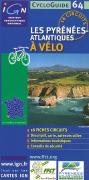 Pyrenees cycling map