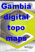 Gambia digital topographic maps