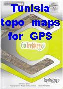 Tunisia digital topographic maps