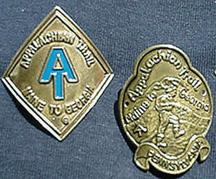 Appalachian Trail walking stick medallion