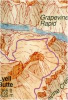 Grand Canyon wall map