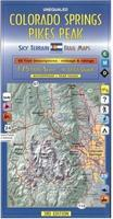Colorado Springs and Pikes Peak Hiking Map