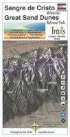 Sangre de Cristo and Great Sand Dunes Hiking Map