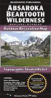 Absaroka Beartooth Wilderness Outdoor Recreation Map