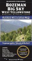 Beartooth Mountains Outdoor Recreation Map