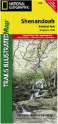 Shenandoah National Park hiking map
