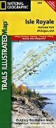 Isle Royale National Park hiking map