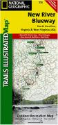 New River Blueway hiking map