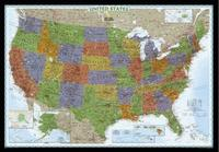 United States political wall map by National Geographic