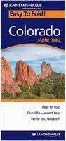 Colorado laminated road map
