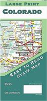 Colorado Large-Print road map