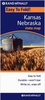 Nebraska laminated road map