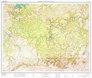Mammoth Cave topographic map