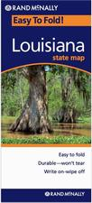 Louisiana laminated road map
