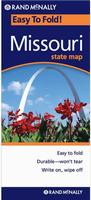 Laminated Missouri road map