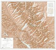 Glacier topographic map