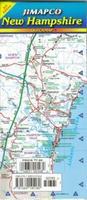 New Hampshire laminated road map