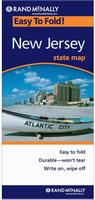 Laminated New Jersey road map