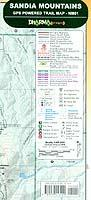 Sandia hiking map