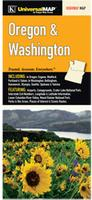 Washington-Oregon Road map