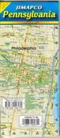Pennsylvania laminated road map