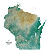 Wisconsin maps from Omnimap a leading international map store