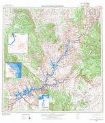 Glen Canyon topographic map