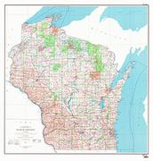 Wisconsin Maps From Omnimap A Leading International Map Store - Map of wisconsin lakes and rivers