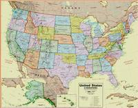 United States political map by Maps International