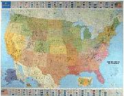 Michelin USA wall map