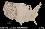 United States landforms map