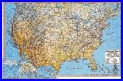 United States physical features wall map by Gabelli