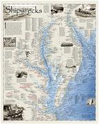 Shipwrecks of the Delmarva map