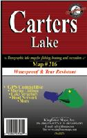 Carters Lake fishing map