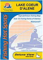 Coeur d'Alene fishing map