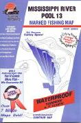 Mississippi River Pool 13 fishing map