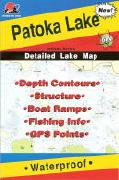 Patoka Lake fishing map