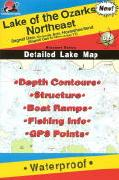 Lake of the Ozarks fishing map