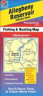 Allegheny Reservoir fishing map