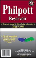Philpott Reservoir map