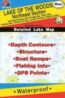 Lake of the Woods fishing map