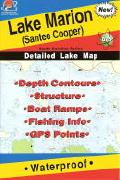 Marion Santee Cooper fishing map